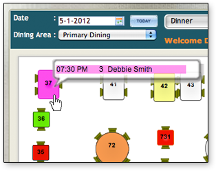 Online Restaurant Reservations Table Management System - Table reservation in restaurant